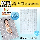 Lolbaby Hi Jell-O涼感蒟蒻床墊加大_涼嬰兒兒童床墊(北極熊藍)