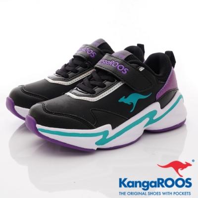 KangaROOS NEON越野老爹鞋-01250黑(中大童段)