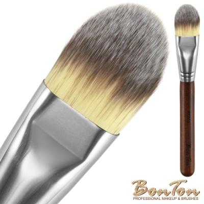 BonTon 原木系列 扁粉底刷(大) RT002 三色纖維直毛