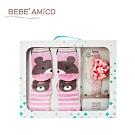 BEBE AMiCO-童話襪髮帶禮盒-粉