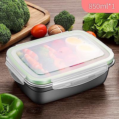 【佳工坊】韓式超好扣304不鏽鋼密封保鮮盒-850ml