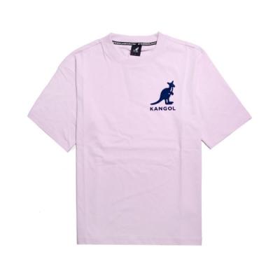 Kangol T恤 Printed Tee 運動休閒 男款 袋鼠 圓領 基本款 棉質 穿搭推薦 紫 藍 6021101441