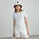 GIORDANO 女裝純棉條紋短袖T恤 - 02 白X寶貝藍 product thumbnail 1