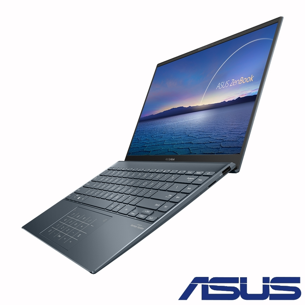 ASUS UX425JA 14吋筆電 (i7-1065G7/16G/512G SSD/ZenBook 14/綠松灰)