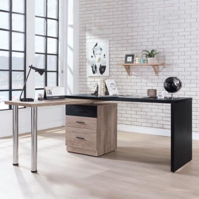 Boden-奧利卡4.8尺多功能旋轉書桌/L型工作桌/辦公桌