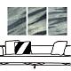 24mama掛畫 三聯式 藝術抽象 時鐘掛畫 無框畫 40x60cm-渲染石紋 product thumbnail 1