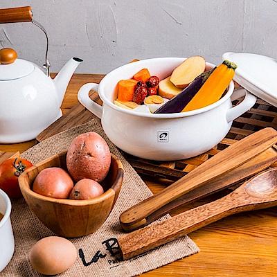 野田琺瑯POCHIKA花蕾系列風味燉煮鍋20CM