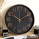 TROMSO紐約時代玫瑰金靜音時鐘-金采方格黑