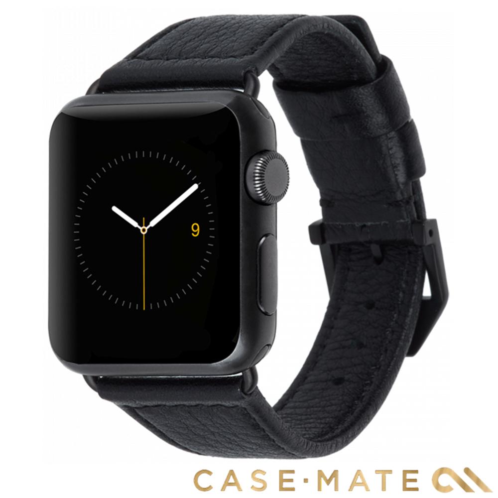 美國Case-Mate AppleWatch Series 4 38/40mm真皮錶帶-黑