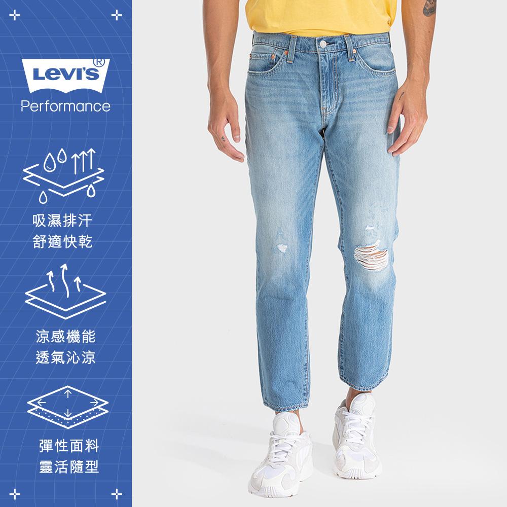 Levis 男款 511低腰修身窄管牛仔褲 Cool Jeans刷破及踝款