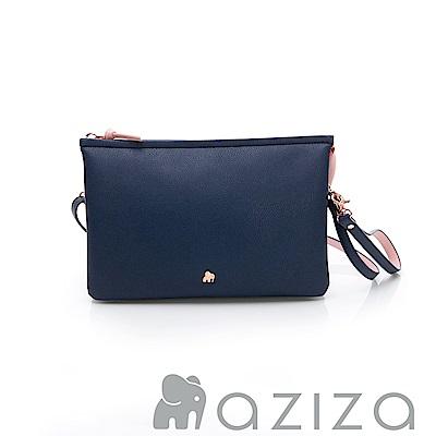AZIZA  BERYL 斜背手拎包(大)-藍