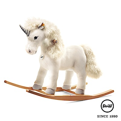 STEIFF德國金耳釦泰迪熊 安撫搖椅 獨角獸 Unicorn  (騎乘動物)
