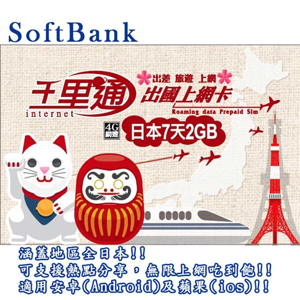 日本上網卡 日本 7日無限上網吃到飽 上網卡