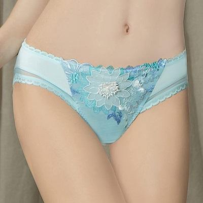 曼黛瑪璉 Marie One 刺繡蕾絲 低腰三角內褲(優雅藍)