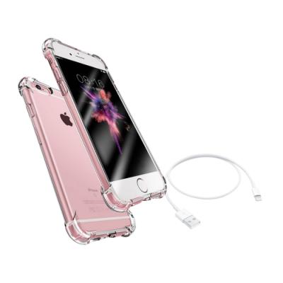 [買手機殼送充電線] iPhone 6 6s Plus 透明 四角防摔 氣囊 手機殼 防摔殼 (iPhone6Plus手機殼 iPhone6sPlus手機殼 )