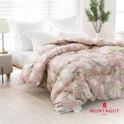 【MONTAGUT 夢特嬌】95%花布羽絨被-緗粉山茶(雙人-180x210cm)