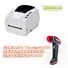 台製 SBARCO T4e plus 300DPI熱感熱轉兩用標籤條碼印製機送無線雷射掃描