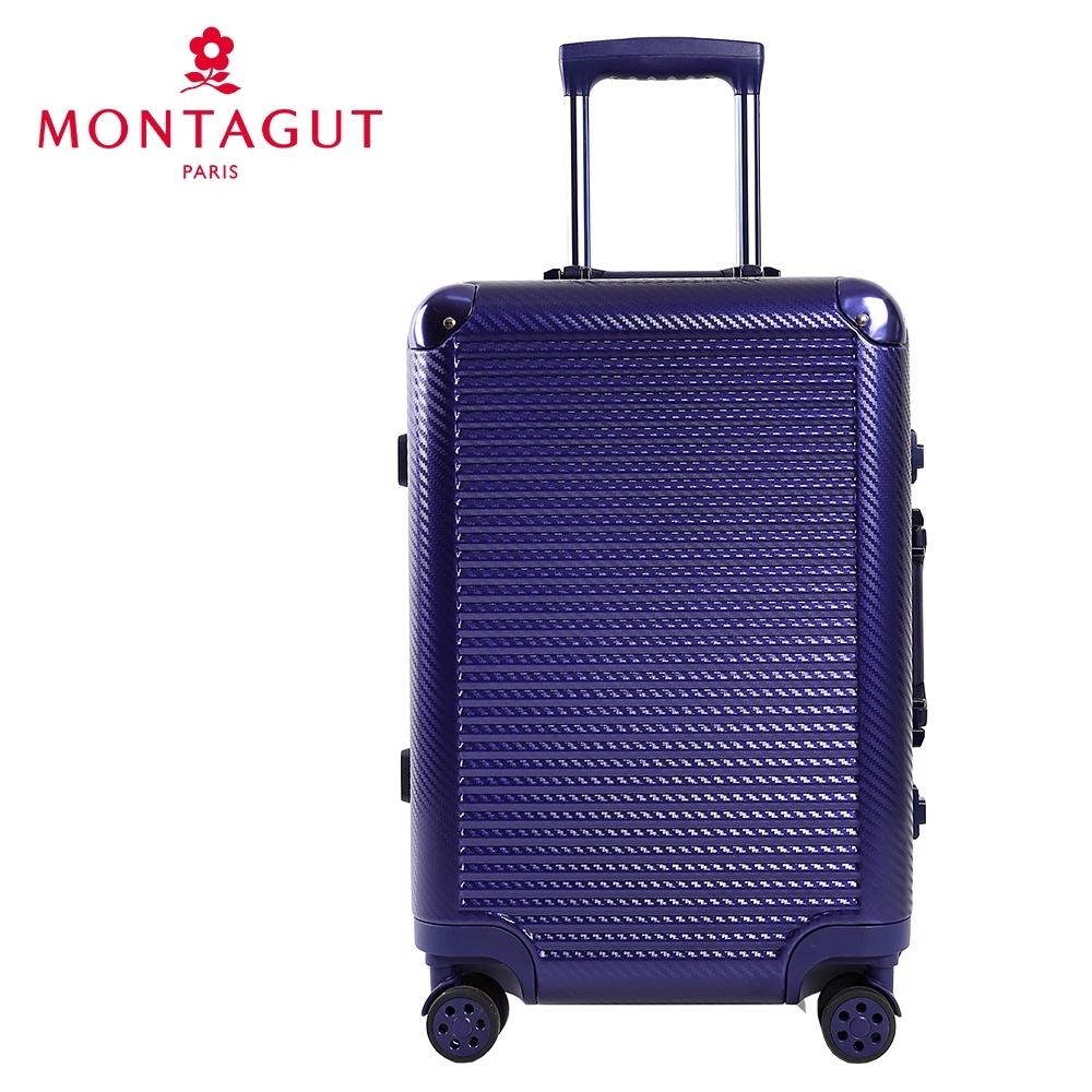 【  MONTAGUT 夢特嬌  】26吋輕量金屬護角編織紋行李箱