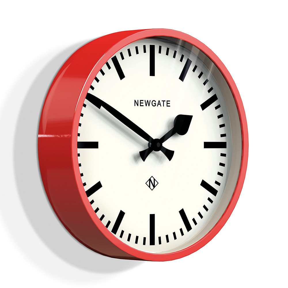 Newgate 英倫風格時鐘-經典英倫-英倫紅-30cm