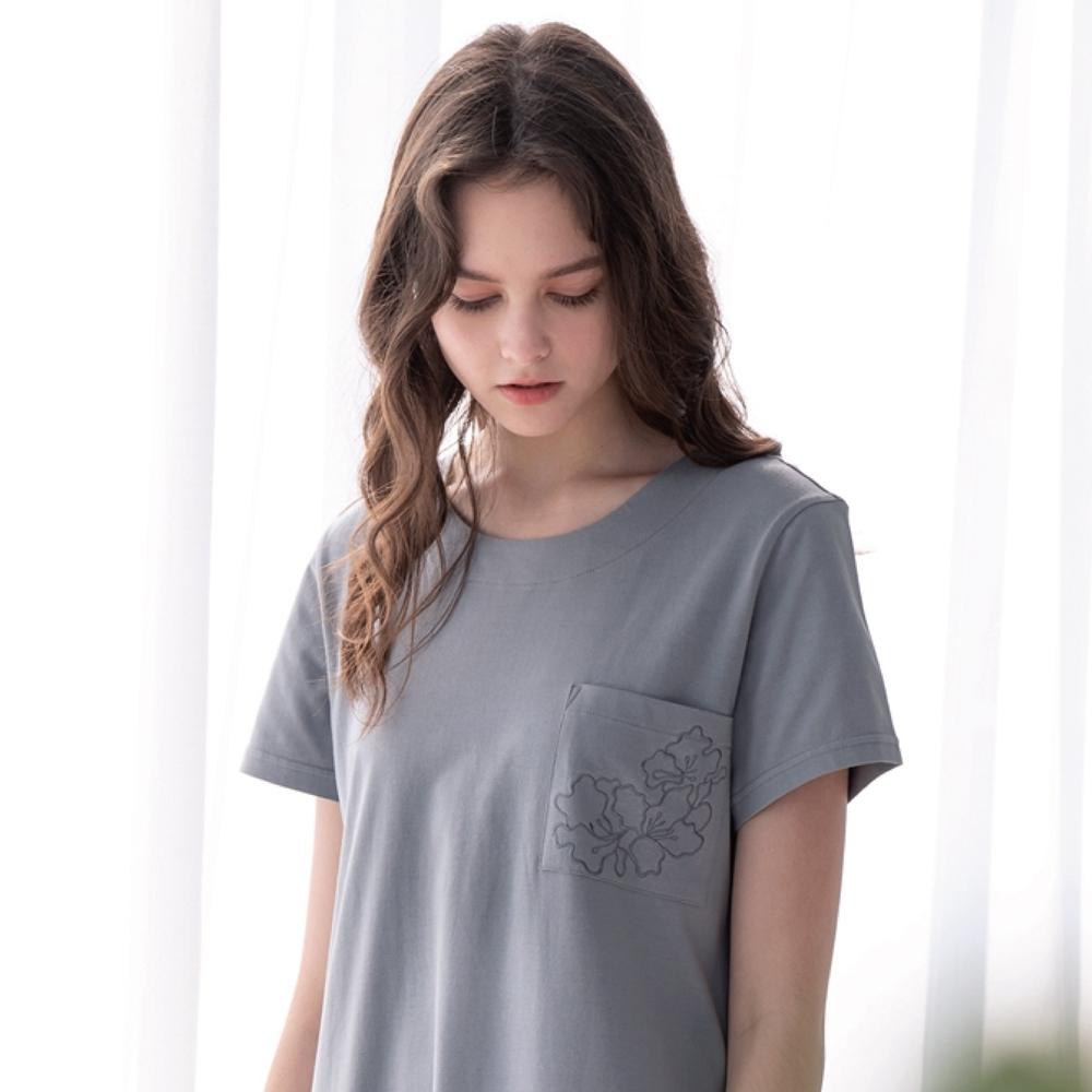 RoseMaid 羅絲美 - 唯我主張短袖洋裝睡衣(率性灰)