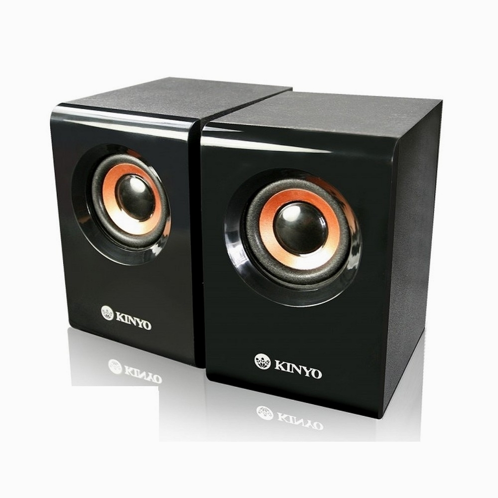 KINYO USB木質立體擴大喇叭 US-176送百元耳機