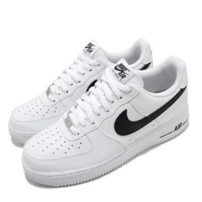 Nike 休閒鞋 Air Force 1 07 運動 男鞋 經典款 AF1 舒適 簡約 皮革 穿搭 白 黑 CJ0952100