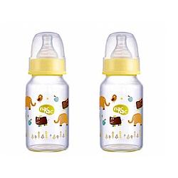 nac nac 好朋友系列(ZOO)-吸吮力學標準輕量耐熱玻璃奶瓶 120ml (2入組)