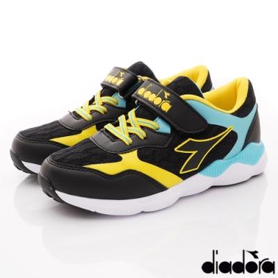 DIADORA童鞋 4E機能減壓跑鞋款 ON1015黑(中大童段)