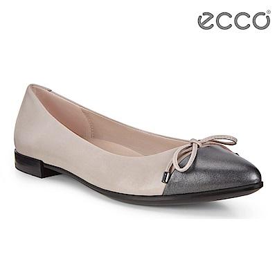 ECCO SHAPE 平底尖頭設計款芭蕾舞鞋 女-深灰