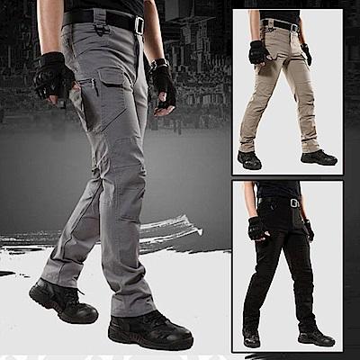 【時時樂限定】美國熊 立體剪裁 多口袋紮實面料 戰術褲 工作褲
