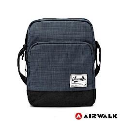 AIRWALK-紳士細格休閒斜背包-灰