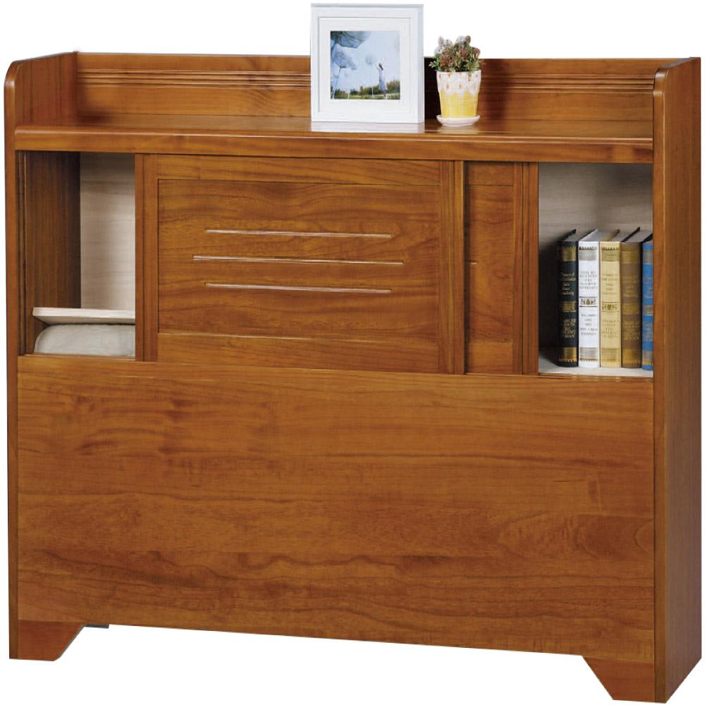 綠活居 米利時尚3.5尺實木單人床頭箱(不含床底)-107x29.5x106.5cm免組