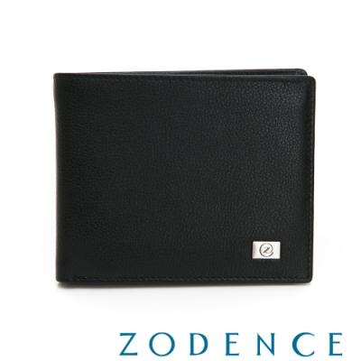 ZODENCE MAN手感系列進口牛皮二合一可拆式15卡短夾 黑
