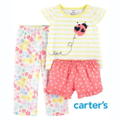 【Carter s】飛行小瓢蟲3件組套裝 (上衣/長褲)(2T-5T)