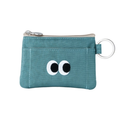 Livework SOMSOM 票卡鑰匙零錢包V2-復古藍
