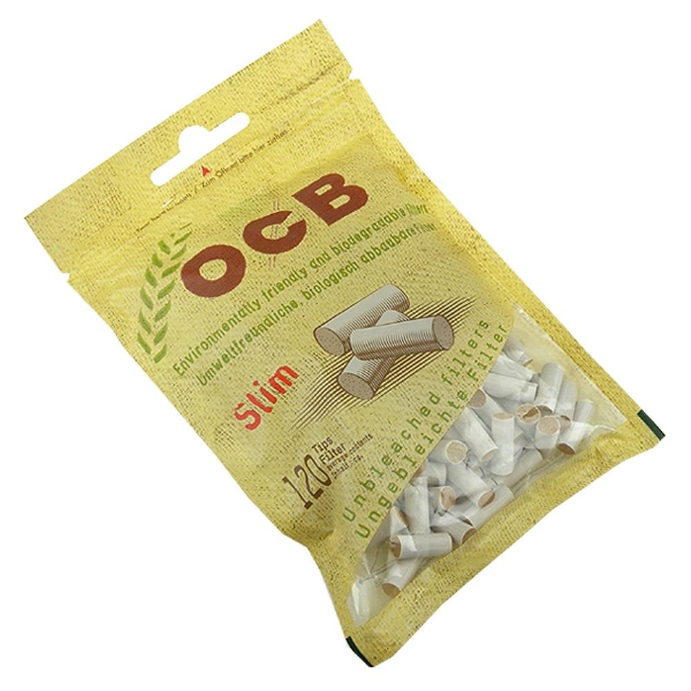 OCB-法國進口捲煙用6mm環保濾嘴-120粒裝*2包