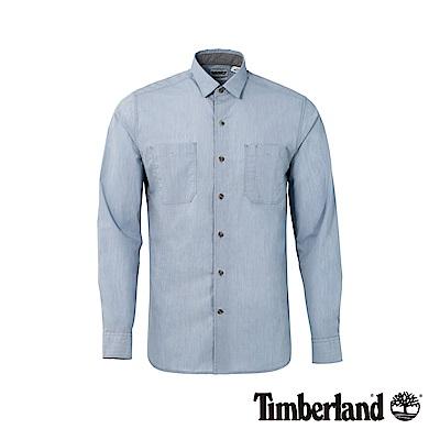 Timberland 男款藍色長袖襯衫|A1NN4