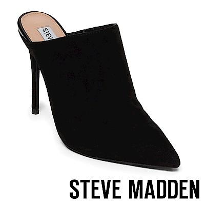 STEVE MADDEN-DARLENE絨面細高跟穆勒鞋-絨黑