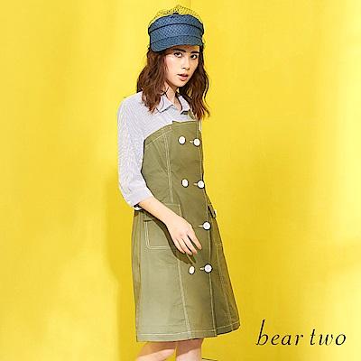 beartwo 假兩件式馬甲風造型洋裝(二色)