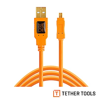 Tether Tools CU8015-ORG USB傳輸線A公轉 MINI B 8PIN