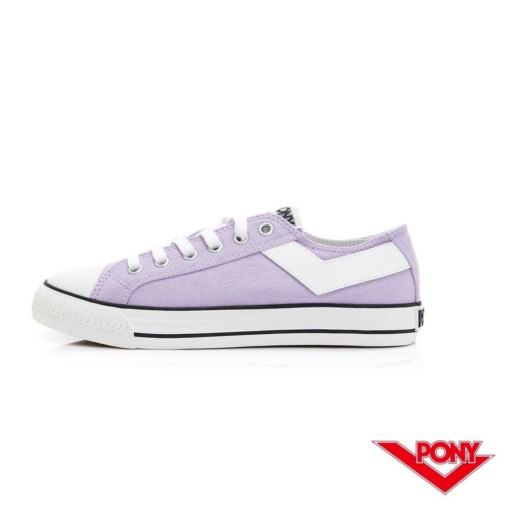 【PONY】Shooter復古帆布鞋 女鞋 粉紫色