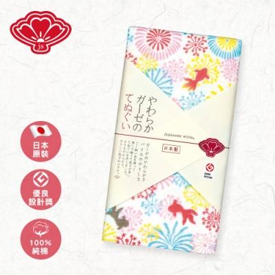 日纖 日本泉州純棉長巾34x90cm(花火祭典)