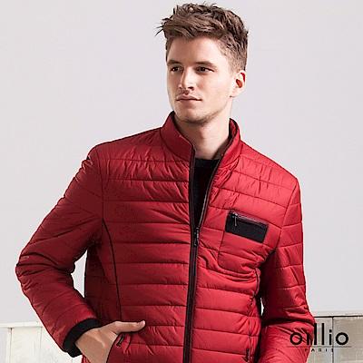 歐洲貴族 oillio 休閒外套 修身線條 素面款式 紅色
