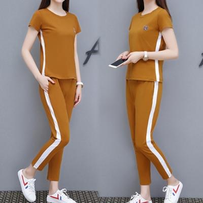 【韓國K.W.】(預購)條紋素色套裝褲-3色