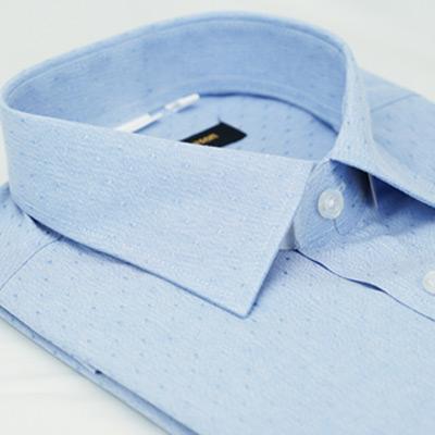 金‧安德森 藍色點點窄版短袖襯衫fast