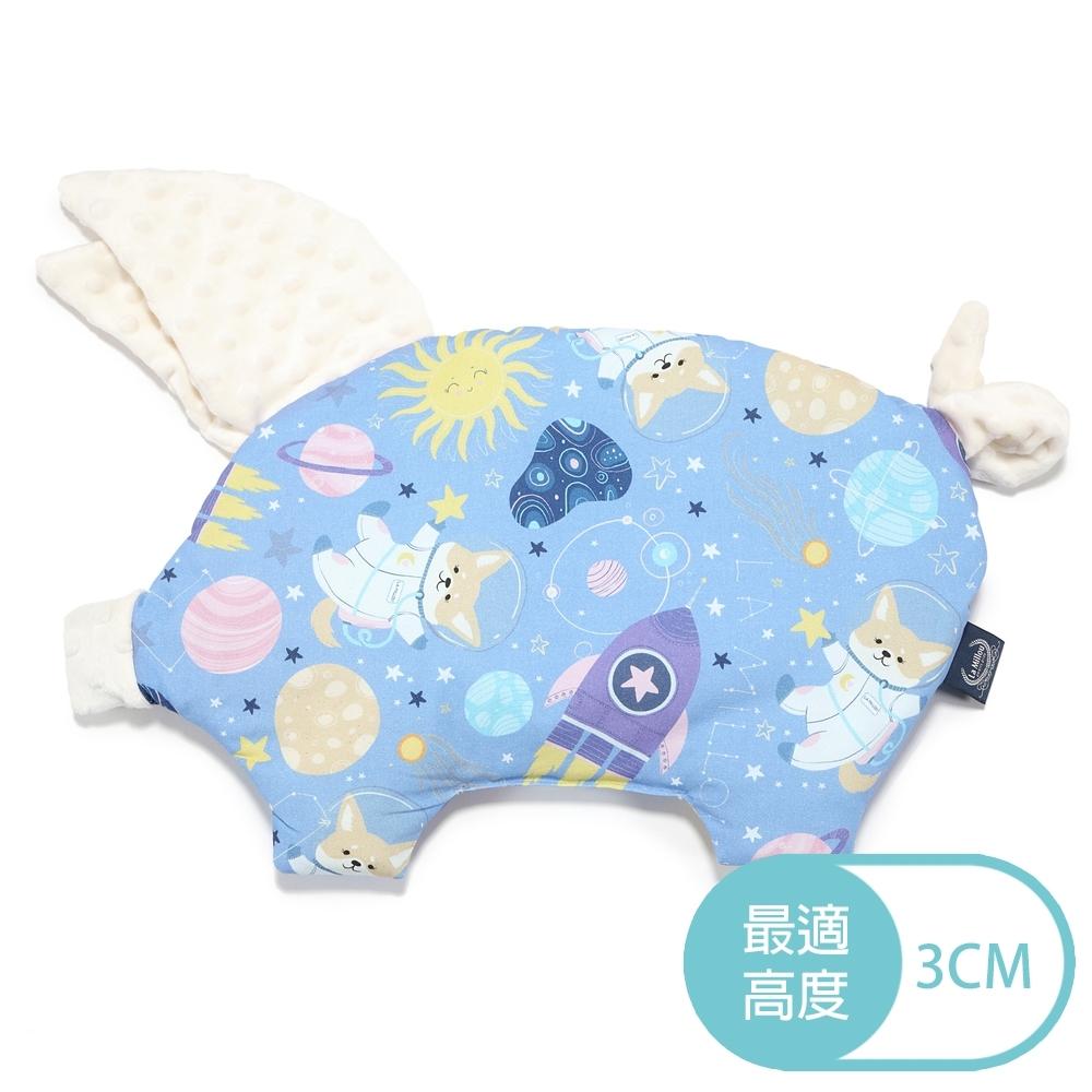 La Millou 豆豆小豬枕-星空胖柯基(藍底)-雲朵白-嬰兒枕安撫玩具