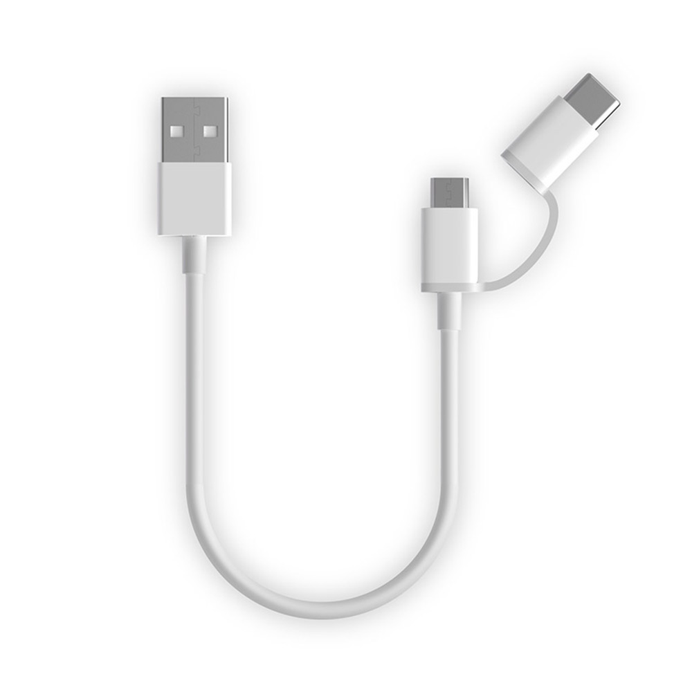 ZMI紫米 Micro USB to Type-C二合一傳輸充電線-30cm(AL511)