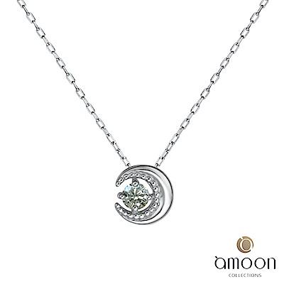 amoon 永恆回憶系列 明月 鉑金鑽石項鍊