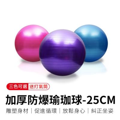 【御皇居】加厚防爆瑜珈球 25CM(「送」打氣筒)