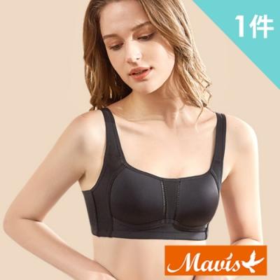 Mavis瑪薇絲-3D立體透氣無鋼圈內衣/睡眠內衣/運動內衣(黑色)